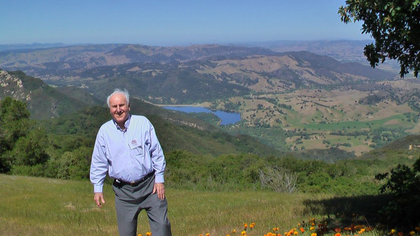 Donn Dears at Psalm 121 overlook, adjacent to location of helipad.