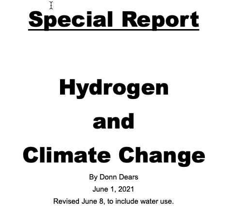 Special Report Hydrogen and Climate Change v2