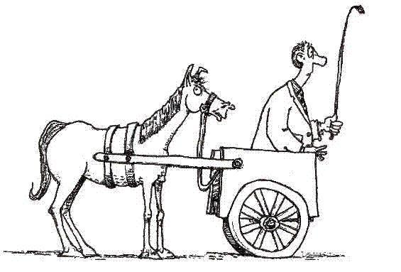 Image result for cart before the horse image