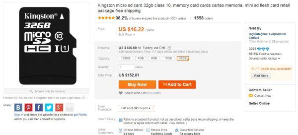 kinsgton daha pahalı ali
