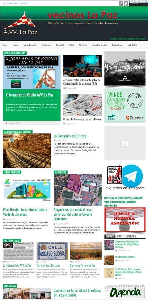 Web Vecinos La Paz