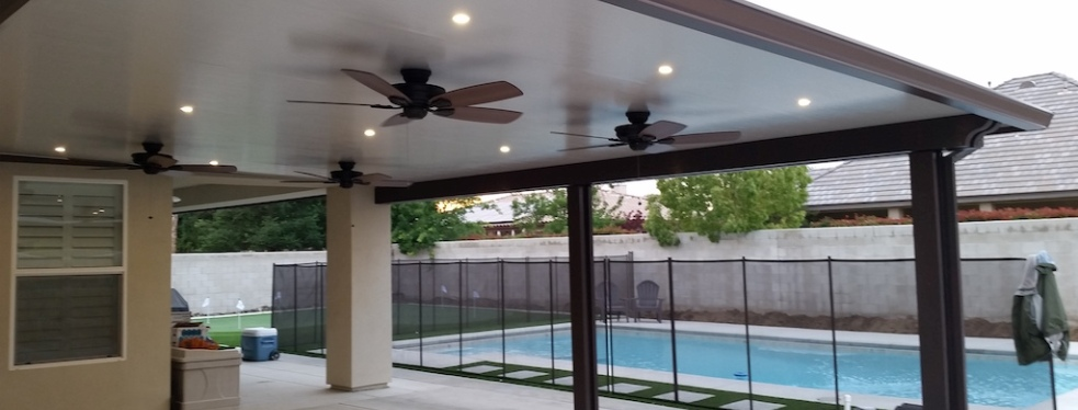Bakersfield Patio Covers and Seamless Rain Gutters reviews ... on Patio Cover Ideas For Rain id=40032