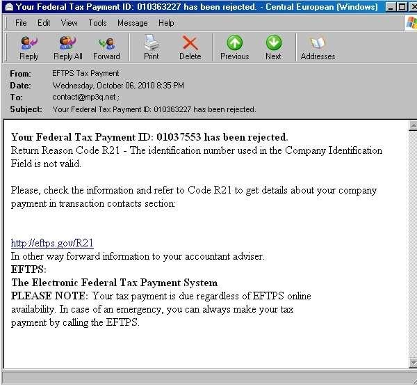 Eftps Direct Payment Worksheet Short Form