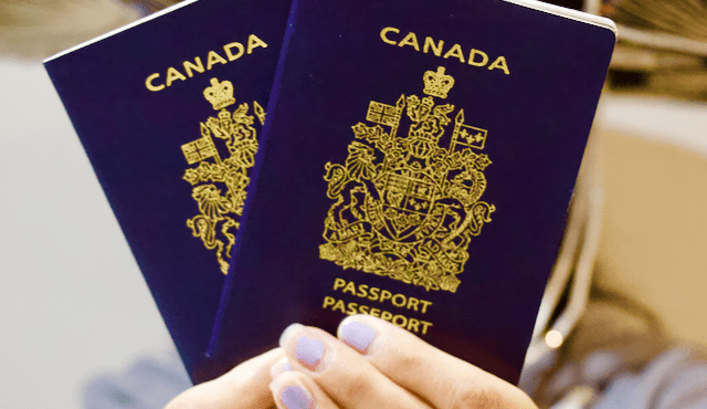two Canadian passports