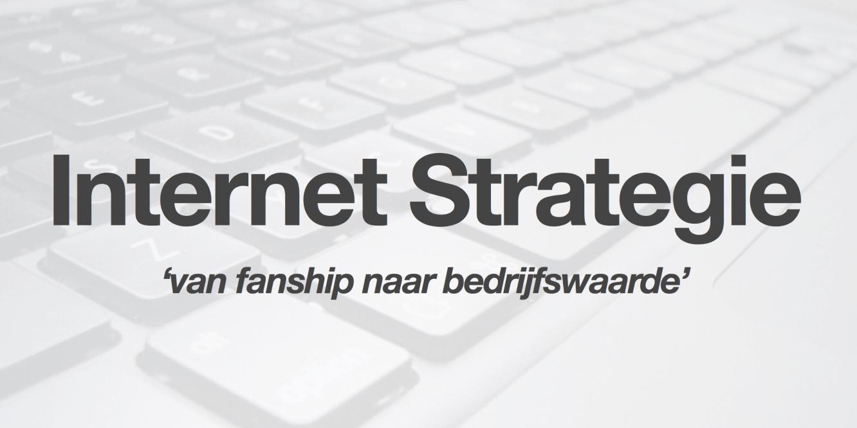 Internetstrategie op 1 pagina