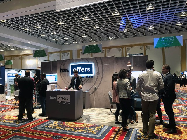 The HasOffers booth at Affiliate Summit West 2019