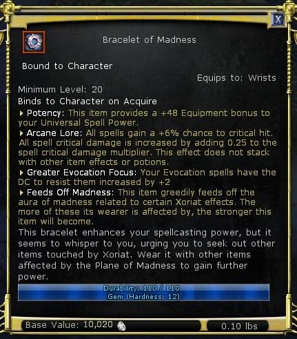 Bracelet of Madness