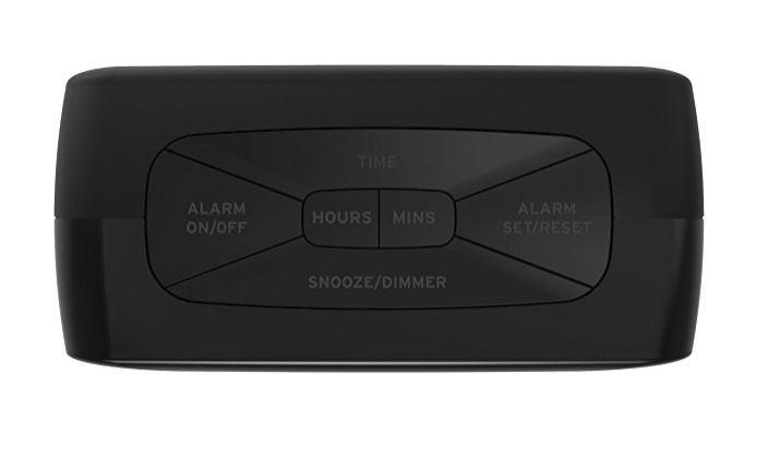 iHome iBT210B Bluetooth Dual Alarm FM Clock Radio with Speakerphone and USB  Charging - Black