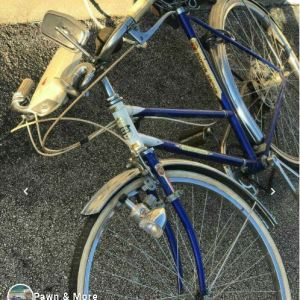 vintage bike on pavement