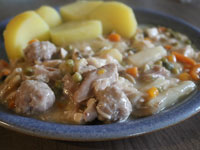 Frikassee Hühnerfrikassee DDR Rezept - Omas Küche früher - Schulküche Schulspeisung