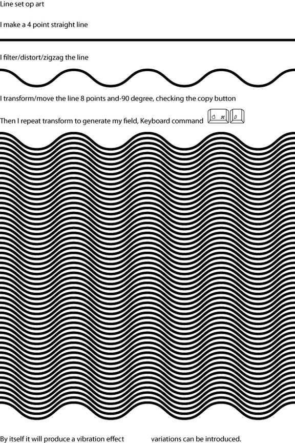 Op Art using line sets in Adobe Illustrator (4/6)
