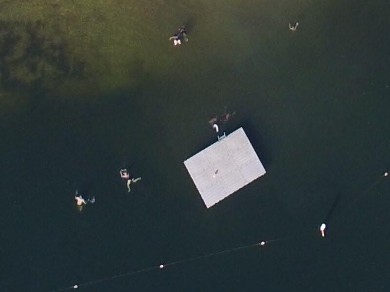 Photo of the Lake Susquehanna Swim Platform