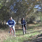Photo of two people riding bikes at Eagle Rick