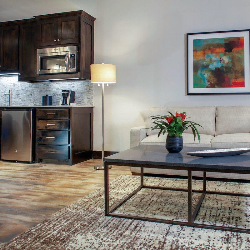 photo of sofa and kitchen