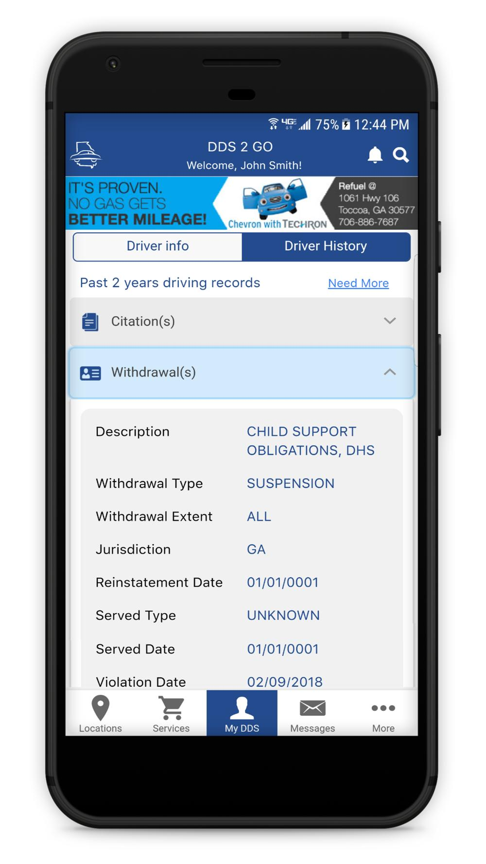 DDS 2 GO Mobile App | Georgia Department of Driver Services