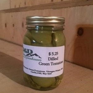Dilled Green Tomato Slices