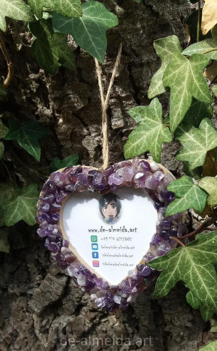 AMETHYST HEART FOR PHOTO