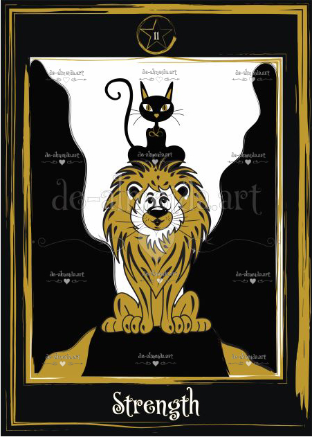 Black cat tarot - Strength
