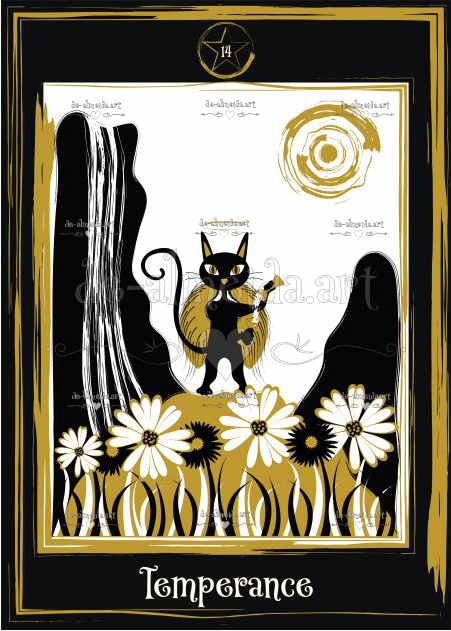 Black cat tarot - Temperance