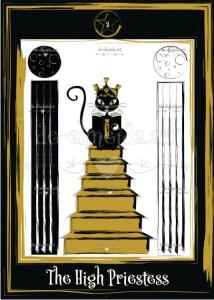 Black cat tarot - The High Priestess
