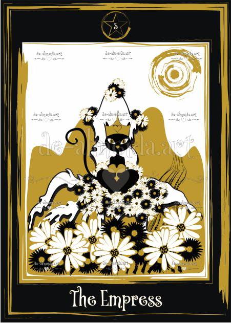 Black cat tarot - The Empress