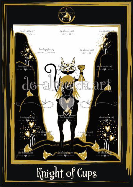 Black cat tarot - Knight of Cups