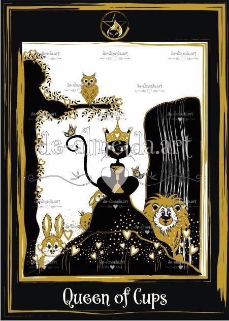 Black cat tarot - Queen of Cups