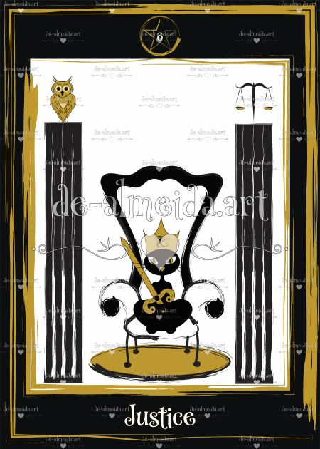 Black cat tarot - Justice
