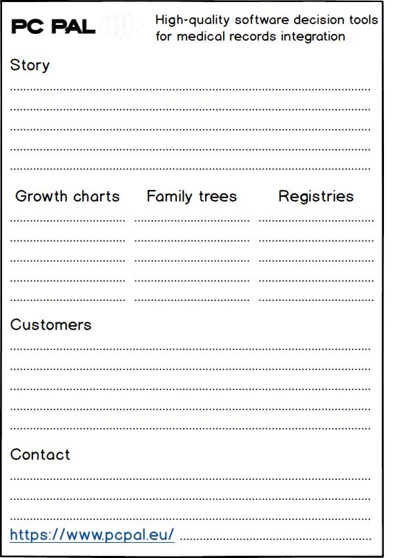 Plan du prospectus PC PAL