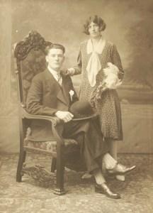 Trouwfoto Jan Passchier Quant en Antje Moeke 8 oktober 1929