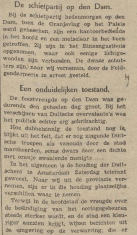 Trouw 5 mei 1945, pag. 4
