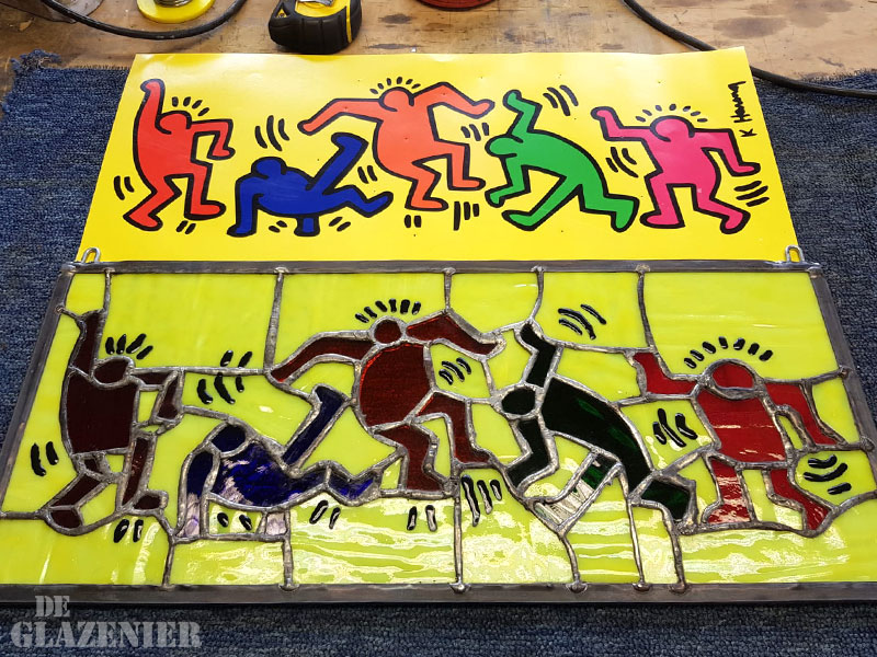 Keith Haring in lood