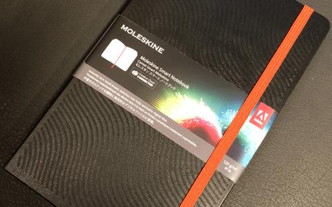モレスキンノートAdobeスマートノートブックハードカバーラージを開封♪アナログとデジタルの融合した世界を垣間見てワクワクした!