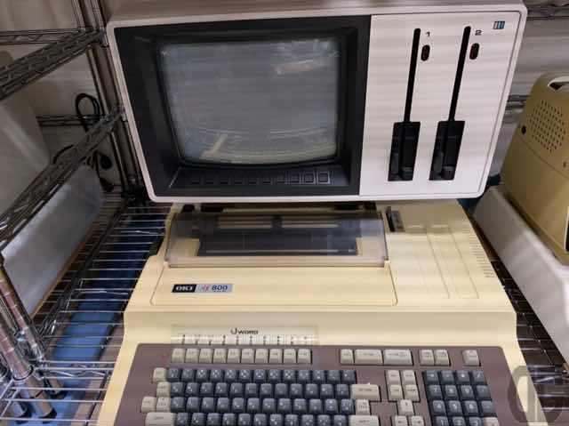 沖電気if800。8インチFDDが搭載されています。マイコン雑誌の広告でしか見たことがありませんでした…