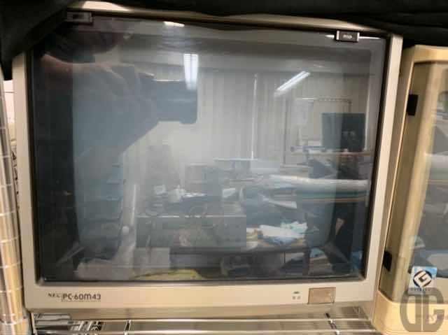 パピコンで一斉を風靡した廉価版パソコンの雄PC-6001シリーズ。そのモニタがNEC PC-60m43。実際にはPC-6001mkIISRやPC-6601SR用だったのではないかと…詳細失念しておりますが。