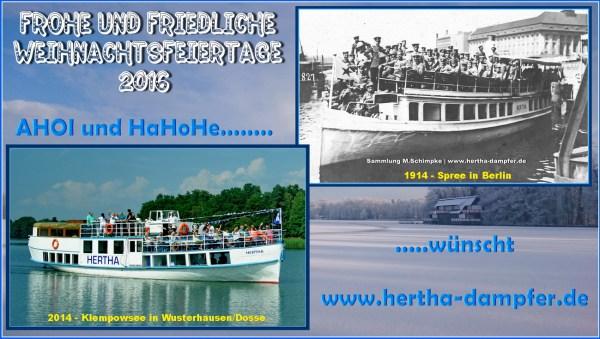 Frohe Weihnachten mit dem Hertha Dampfer im HERTHA-ECHO