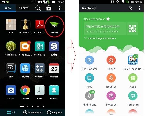 Menjalankan aplikasi di Asus Zenfone