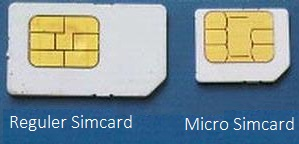 reguler and micro simcard