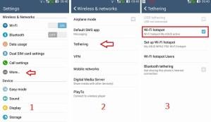 Wi-fi tethering