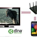 Koneksi phone ke HDTV dengan DLNA
