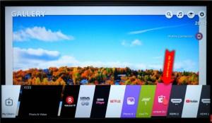 LG WebOS Home Screen