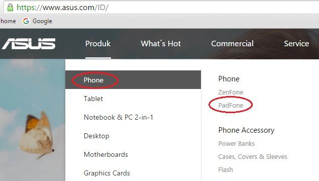 Produk Asus Padfone dalam kategori Phone