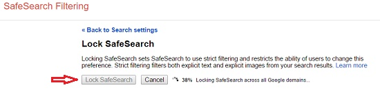 Mengunci Safesearch Google