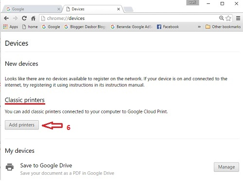 Setup Google Cloud print-3