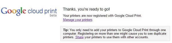 Setup Google Cloud print-5