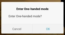 Redmi Note-One handed mode-confirmation