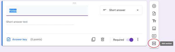 Tambah halaman Google form
