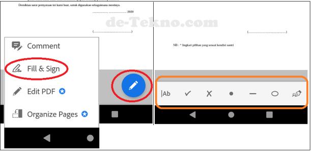 mengisi formulir dan tanda tangan PDF