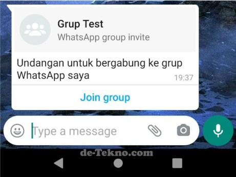 tidak dimasukkan grup WA