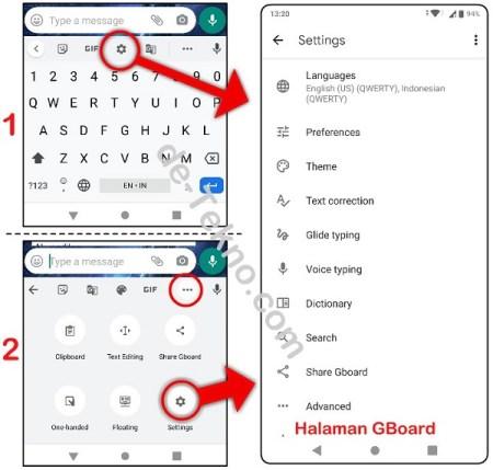 Cara menambahkan bahasa Arab di keyboard Gboard Oppo Realme Vivo